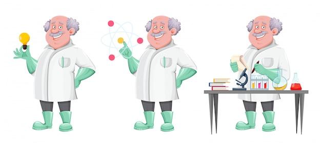 ハンサムな教授の漫画のキャラクター