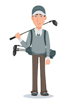 Игрок в гольф, красивый гольфист
