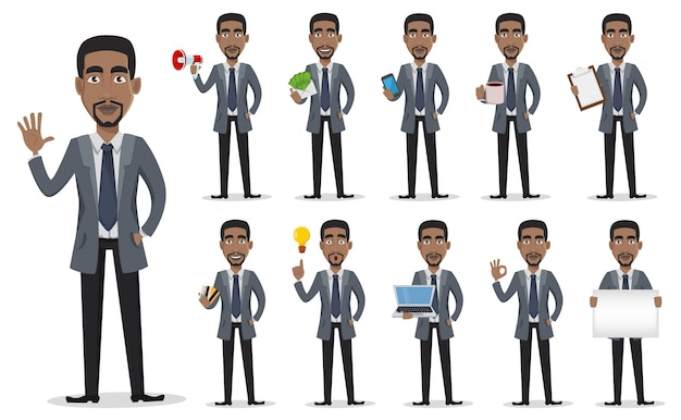 アフリカ系アメリカ人のビジネスマン