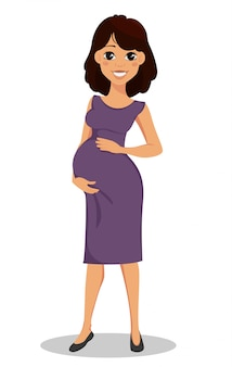 美しい笑顔の妊娠中の女性