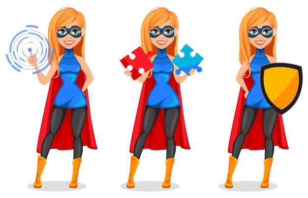 Бизнес женщина супергерой