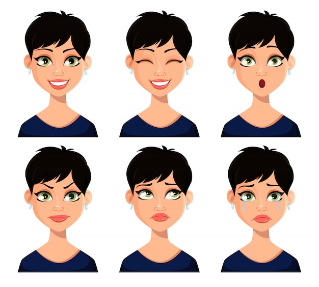 美しい女性の表情