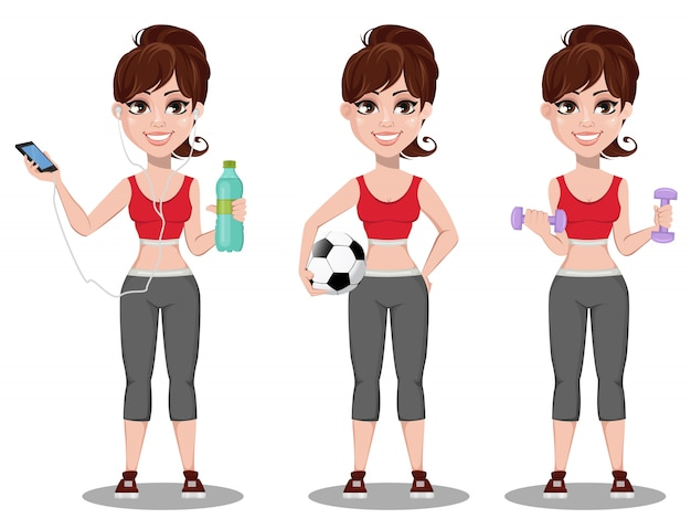 スポーツ衣装で美しい女性