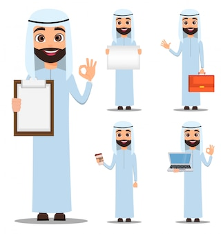 白い服のアラブ人