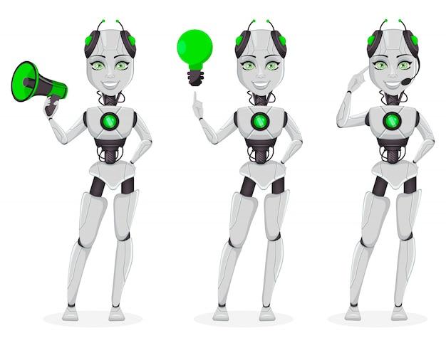 人工知能ロボット、女性ボット