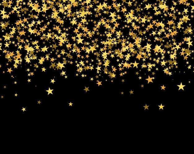 星で作られたキラキラパターン