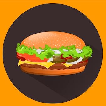 Вкусный чизбургер.