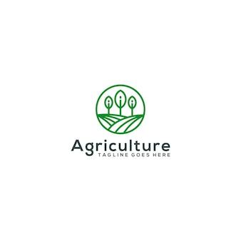 Шаблон дизайна логотипа для сельского хозяйства