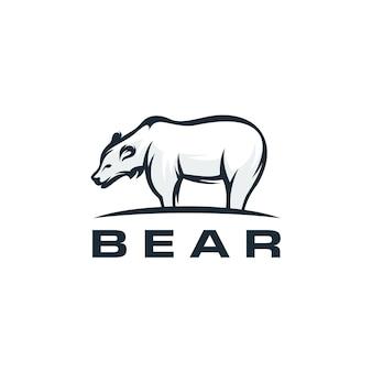 クマのロゴテンプレート