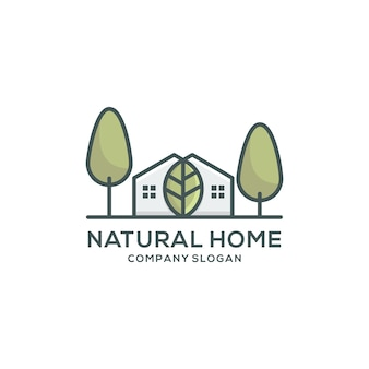 自然のホームロゴテンプレート