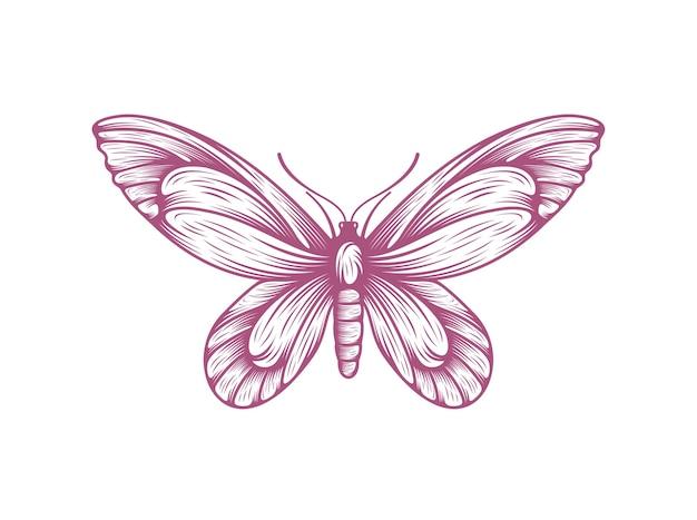 蝶アイコンシンボルベクトル図