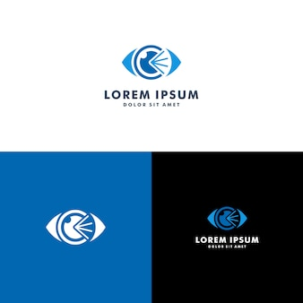 目のロゴのテンプレート
