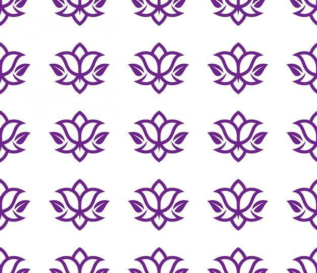 シームレスパターンの抽象的なチューリップの花