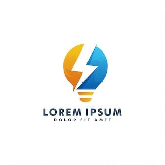 Шаблон электрического логотипа