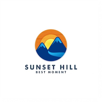 Логотип закат горы
