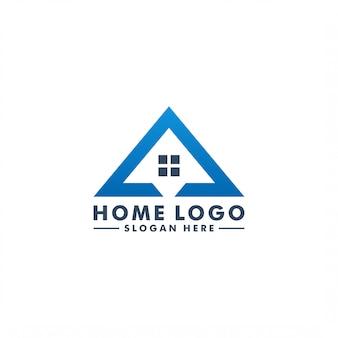 家のロゴのテンプレート。ホームデザインアイコンロゴタイプの建物の図