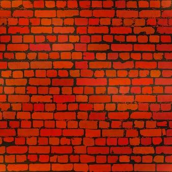 使い古されたレンガの壁のシームレスなパターンで現実的なグランジレンガ