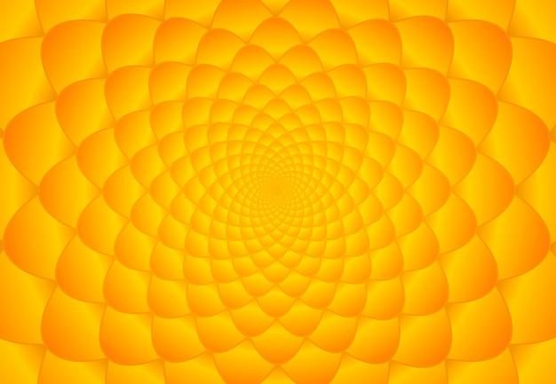 オレンジと黄色のフィボナッチの背景