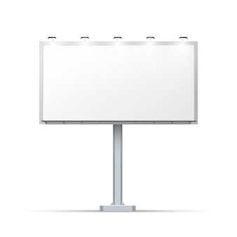Пустой наружный рекламный щит с местом для рекламы и с подсветкой
