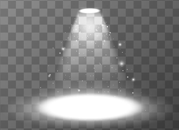 Пустая сцена с прожектором на прозрачном фоне