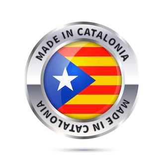 Значок глянцевый металлический значок, сделанный в каталонии с флагом