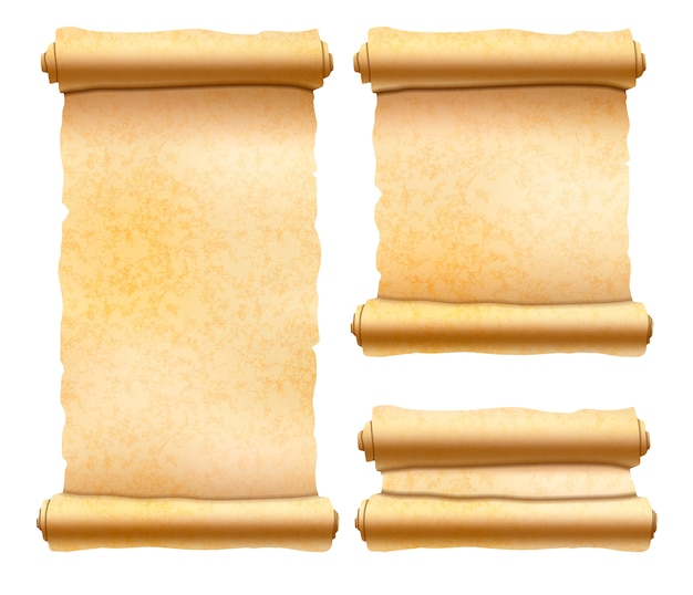 古い織り目加工パピルススクロール