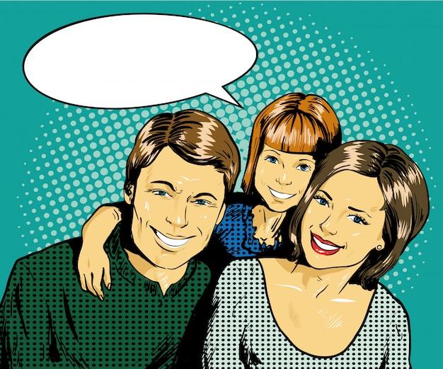 子供と幸せな家族