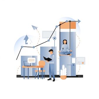 Бизнес-концепция для веб-баннера, страницы сайта