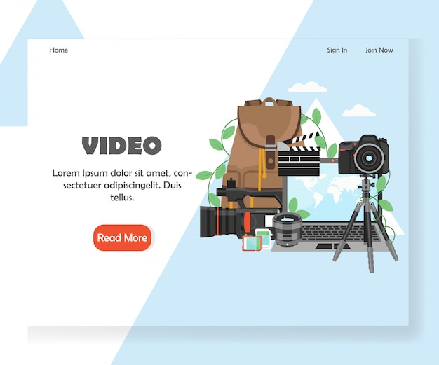 Шаблон целевой страницы сайта видеографии