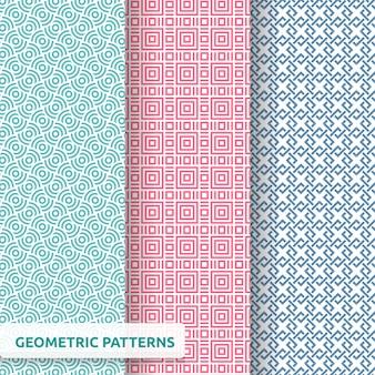 幾何学的なシームレスパターンパック
