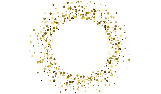 ゴールドスパークルペーパーデザイン。抽象的な雨パターン