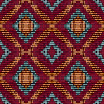 コールドリピートシェブロン。あずき色のカーペットのシームレスなパターン。エスニックタイダイジオメトリック。アズールジャパンストライプバックグラウンド。アラビア語の部族ナバホ。