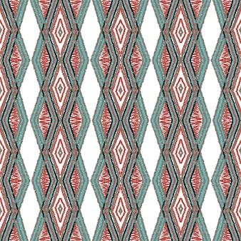 クリムゾンボーホータイダイ。ディップ部族ベクトルのシームレスパターン
