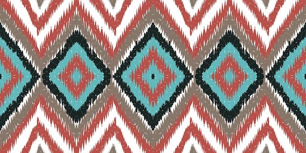 コバルトアラビア語の絞り。レッドカーペットのシームレスなパターンベクトル