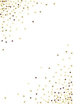 黄色の光の輪の背景。光沢のある水玉