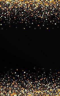 Золотой горошек абстрактный черный фон. эффект пыль