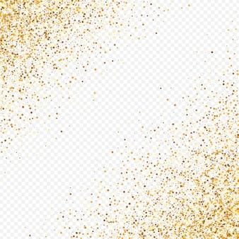 Эффект золотой пыли прозрачный фон. богатый