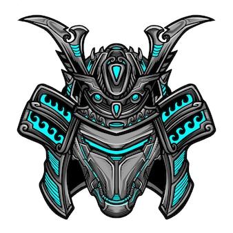 侍ロボットブルーマスク