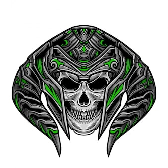頭蓋骨の戦士の頭のベクトル