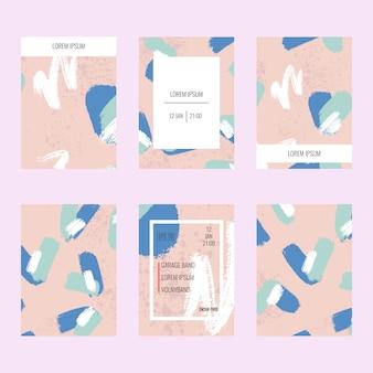 抽象的なパンフレットセット。