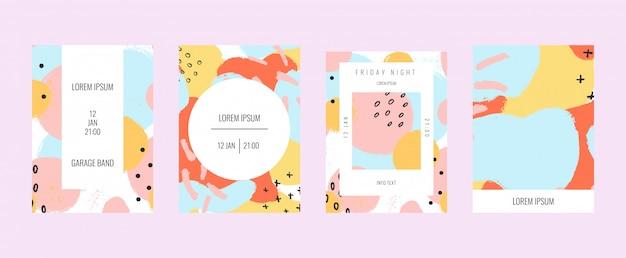 Пастельные постеры форм и рисунков.