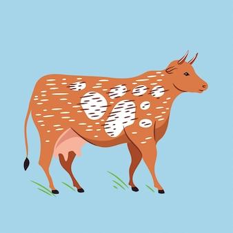 Векторная иллюстрация коровы.