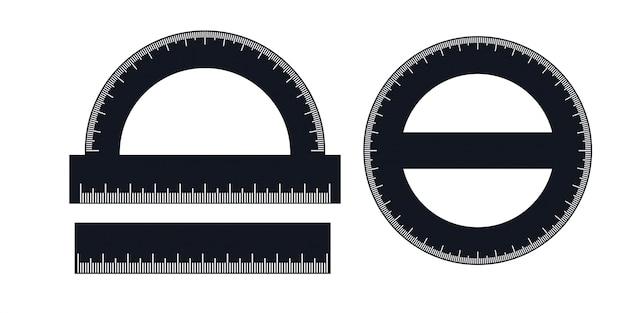 定規と分度器のセット