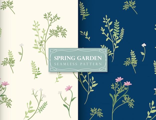 春の庭のシームレスパターン