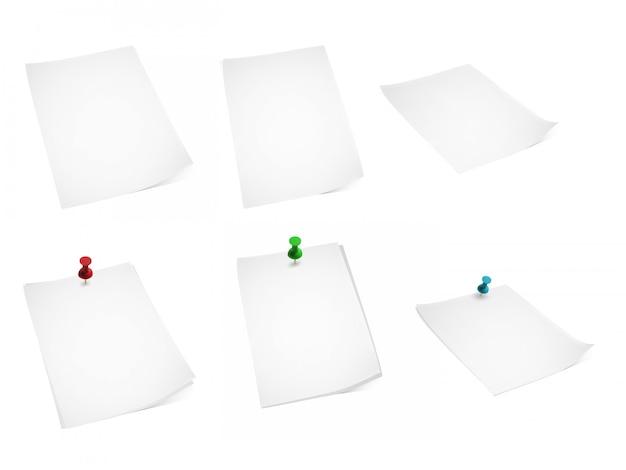 Набор бумаги и канцелярских кнопок