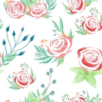 花のエレガントな水彩画パターン小