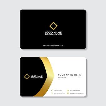 Элегантная золотая простая визитная карточка