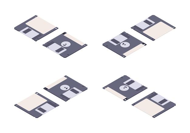 等尺性フラットフロッピーディスク、ディスケット