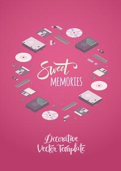 Сладкие воспоминания дизайн вектор украшения