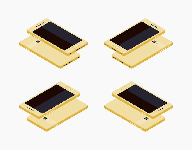 等尺性の一般的な白いスマートフォン